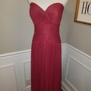NWT SAMPLE SALE Dessy Collection Floor Length Gown